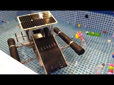 หุ่นยนต์เก็บขยะบนผิวน้ำ (Water Surface Trash Collecting Robot) ในงานมหกรรมงานวิจัยแห่งชาติ 2563 (Thailand Research Expo 2020)