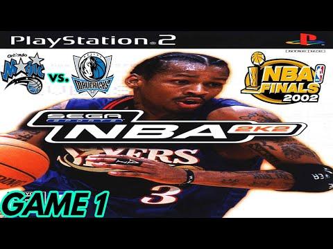 NBA 2K2 PS2 Gameplay - 2002 NBA Finals, Game 1 Orlando Magic @ Dallas Mavericks