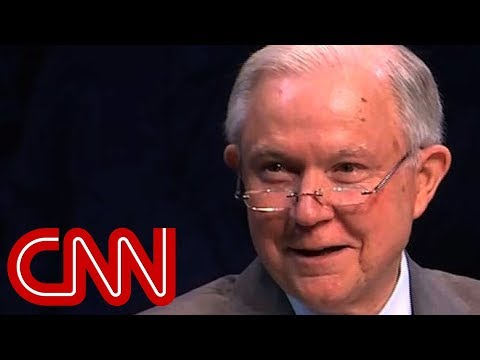 Jeff Sessions repeats 'lock her up' chant