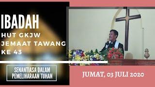 IBADAH HUT GKJW JEMAAT TAWANG || JUMAT, 3 JULI 2020