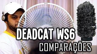 Comparação de Áudio em Microfones Usando o DeadCat Rode WS6 Deluxe Windshield