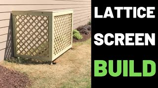 Hide Your Garbage Can—Build A Lattice Screen!