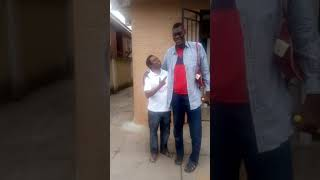 Afeez Agoro  the tallest man in Nigeria came to identify  with the Charity City Project