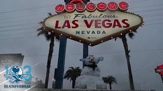 Cae nieve en Las Vegas, después de una década