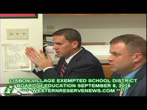 Lisbon Schools Elementary Principal Report at Board Meeting 09-08-16