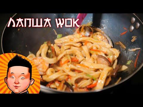 Лапша WOK с морепродуктами | Рецепт лапши вок