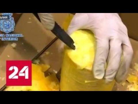 Фрукты с сюрпризом: наркоторговцы замаскировали кокаин под ананасы - Россия 24