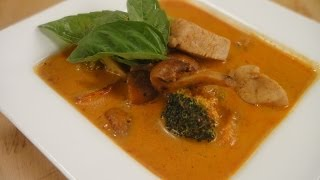 Chicken And Mushrooms In Thai Red Curry  | Sanjeev Kapoor Khazana