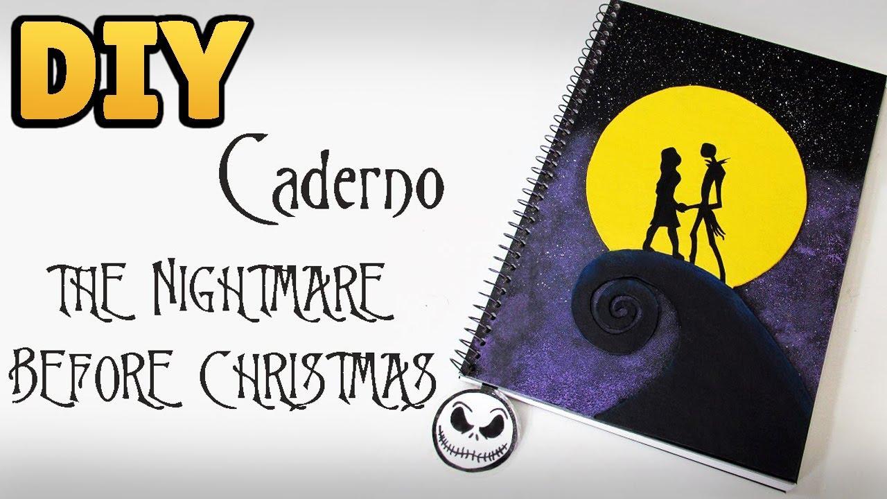 DIY: Caderno Personalizado O ESTRANHO MUNDO DE JACK (The Nightmare ...