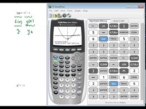 Solving Exponential and Logarithmic Equations using TI 84 ...