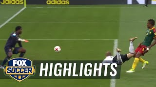 Timo Werner scores diving header for Germany | 2017 FIFA Confederations Cup Highlights