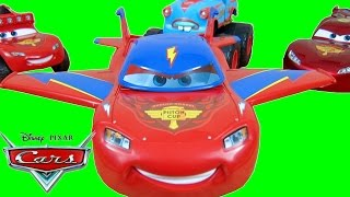 DISNEY CARS DESIGN & DRIVE LIGHTNING MCQUEEN HAWK TRANSFORMER NIGHT VISION PISTON CUP