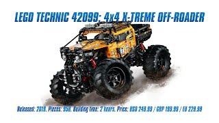 LEGO Technic 42099: 4x4 X-Treme Off-Roader: Control+, New Pieces, Speed Build & Review [4K]