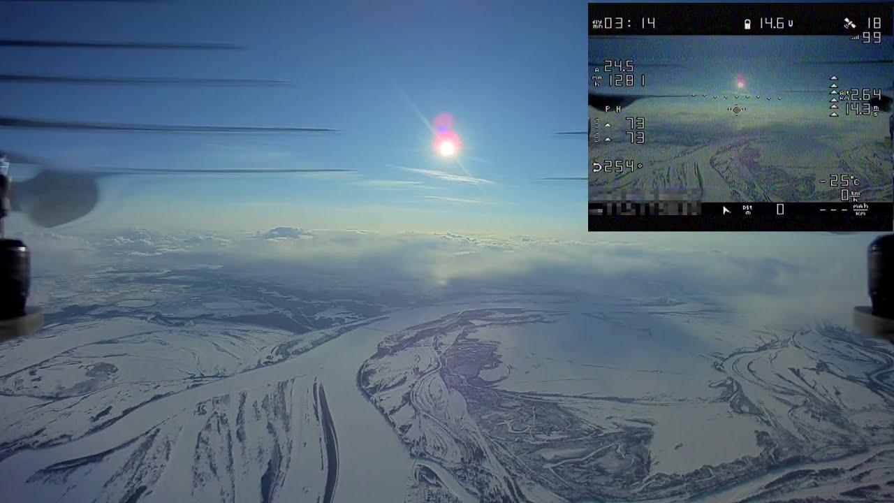 Квадрокоптер поднялся на 10 километров. / High altitude drone flight record FPV картинки