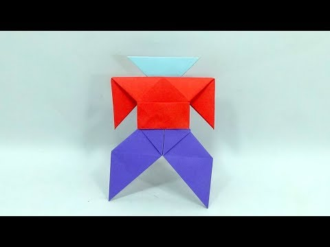 How To Make Origami Paper Robot - Paper Transforming Toy Robot - Diy Crafts Paper Alien Instruction