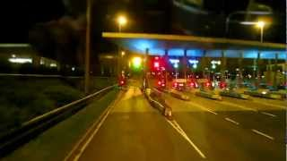 Night Ride through Dublin #1 - Airlink bus service from airport to city center