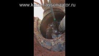 Откачка канализации с промывкой и удалением густых отложений