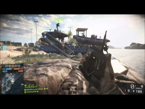 BATTLEFIELD - TEST BOAT JUMPING VIDEO - WAVEBREAKER XBOX GAMEPLAY