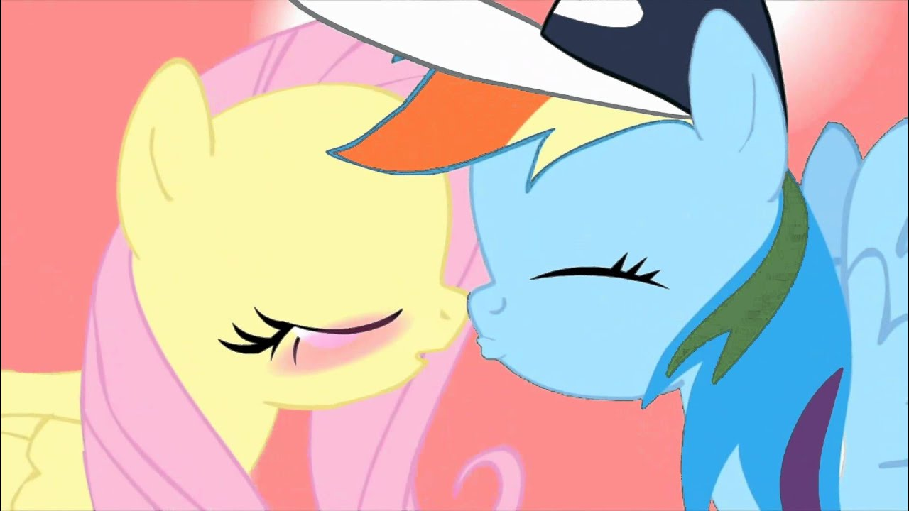 My Little Pony Rainbow Dash And Fluttershy Kiss Youtube