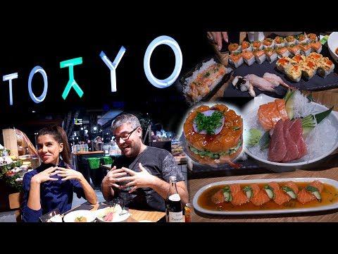 Обзор заведения Tokyo Москва. Не очень хотели идти, но... Для любителей японской кухни. #PRostoEda