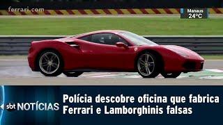 Polícia Descobre Oficina Que Fabrica Ferrari E Lamborghinis Falsas | Sbt Notícias (15/02/2019)