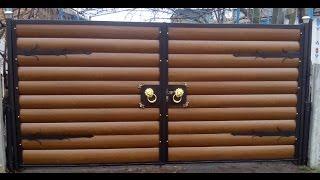 видео Автоматические распашные ворота на дачу в Москве, цена откатных ворот для дачи