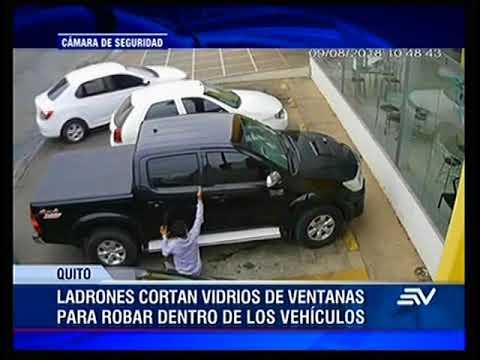 Ladrones Cortan Vidrios De Ventanas Para Robar Dentro De Vehículos