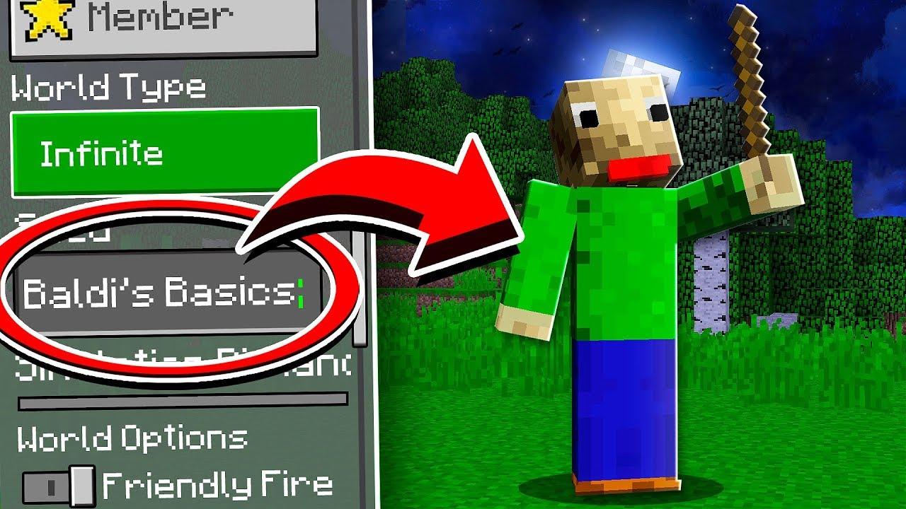 Do NOT Use BALDI'S BASICS Seed in Minecraft! with RageElixir & YaBoiAction