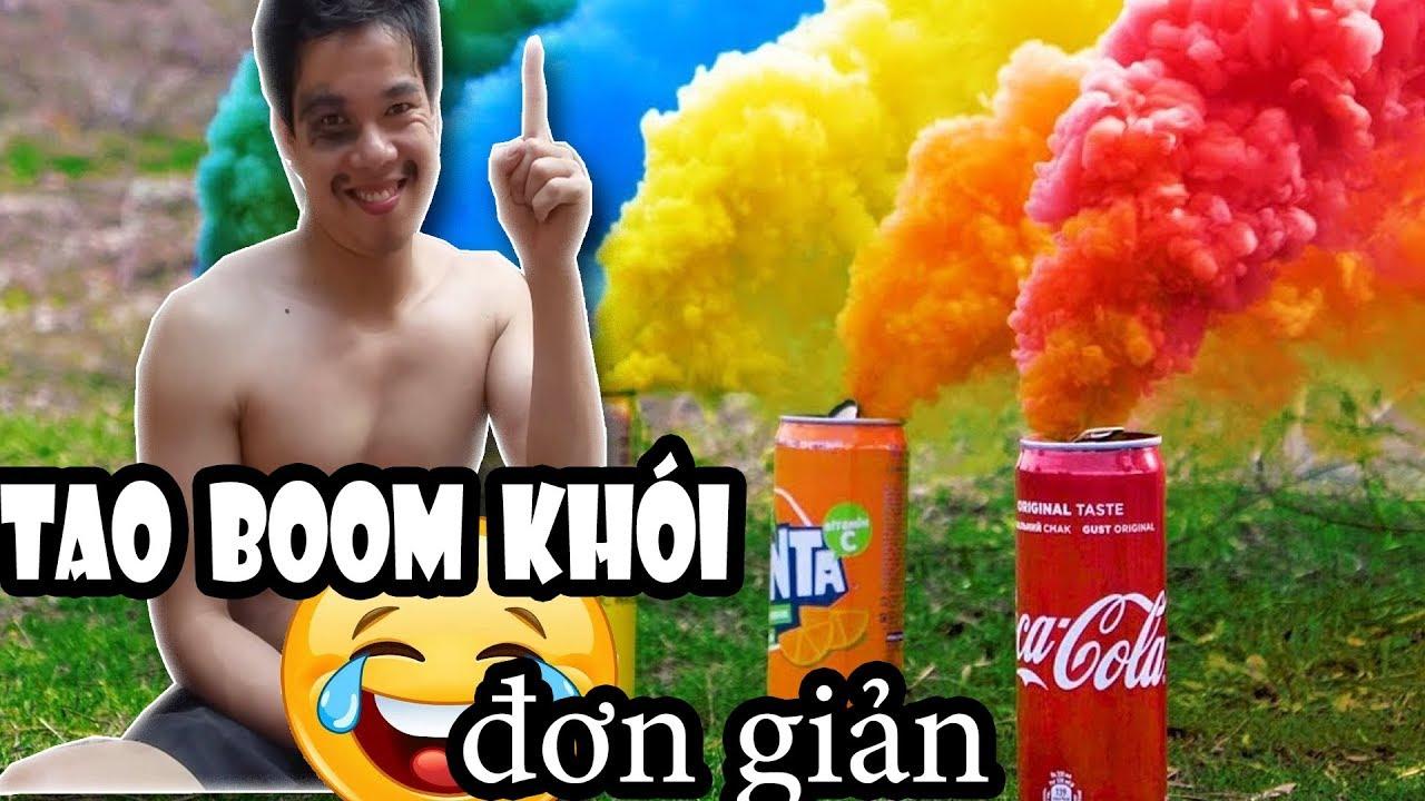 Cách tạo Pháo Khói Đơn Giản | create colorful smoke cannon