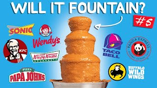 The Ultimate Fountain Challenge #5: Fast Food Edition