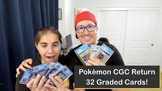 Half of a Bulk Pokémon Trading Card Return from the Certified Guaranty Company (CGC)