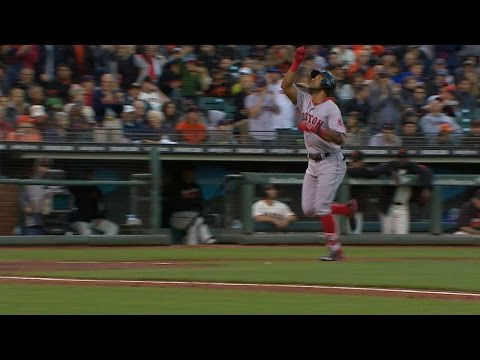 BOS@SF: Young grinds out homer vs. Bumgarner