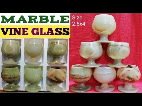 Marble (VINE GLASSES) Size 2.5x4 Unboxing On Pakistan Handicrafts.