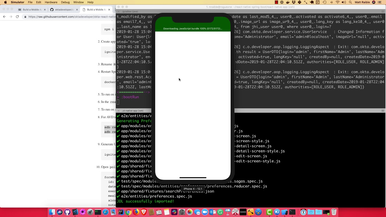 Build a Mobile App with React Native and Spring Boot
