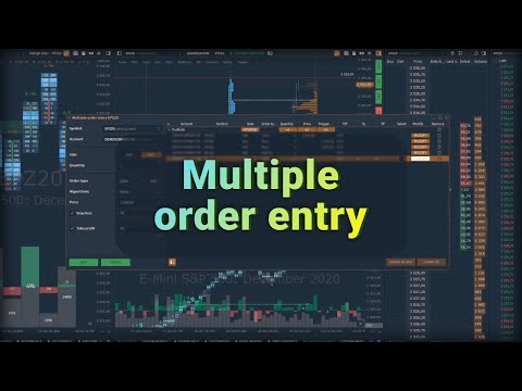 Multiple Order Entry. A brief description of the new Quantower's panel functionality