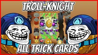 - R to Wall Nut Bowling Wall Knight All Trick Cards Plants vs Zombies Heroes Gameplay
