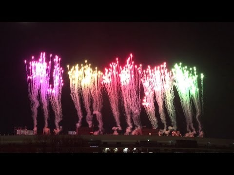 【4K】2014/3/16 ももクロ国立ライブの花火【FDR-AX100】
