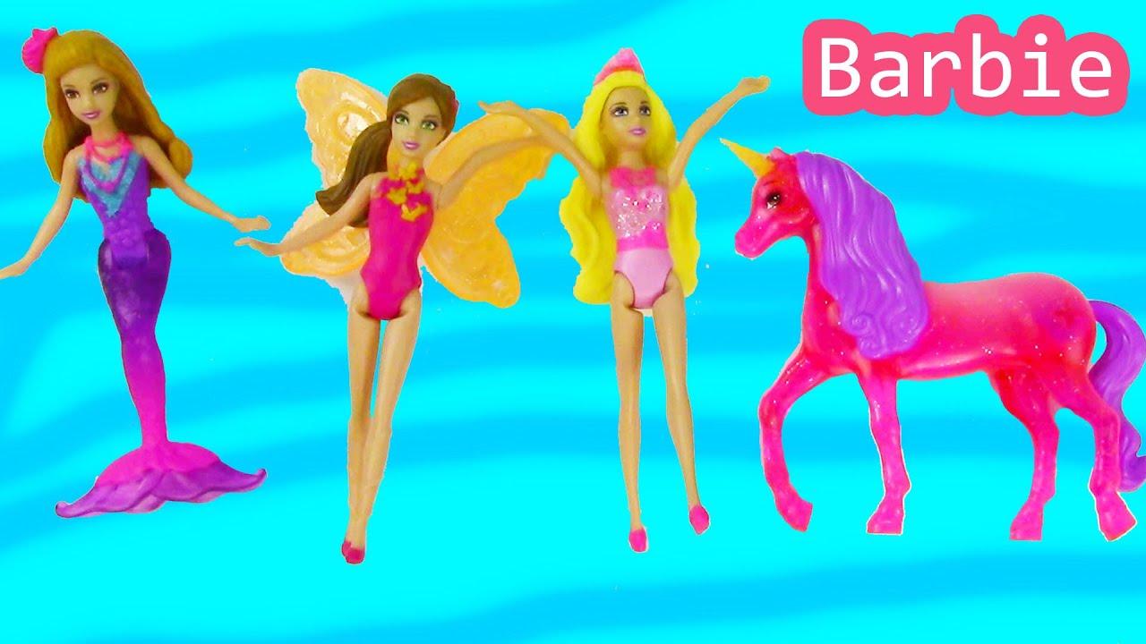 Barbie Mermaid Princess Unicorn Fairy And The Secret Door