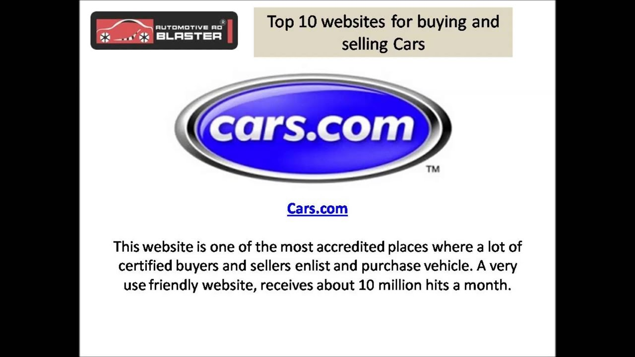 Top 10 Websites To Buy And Sell Your Car Online Youtube