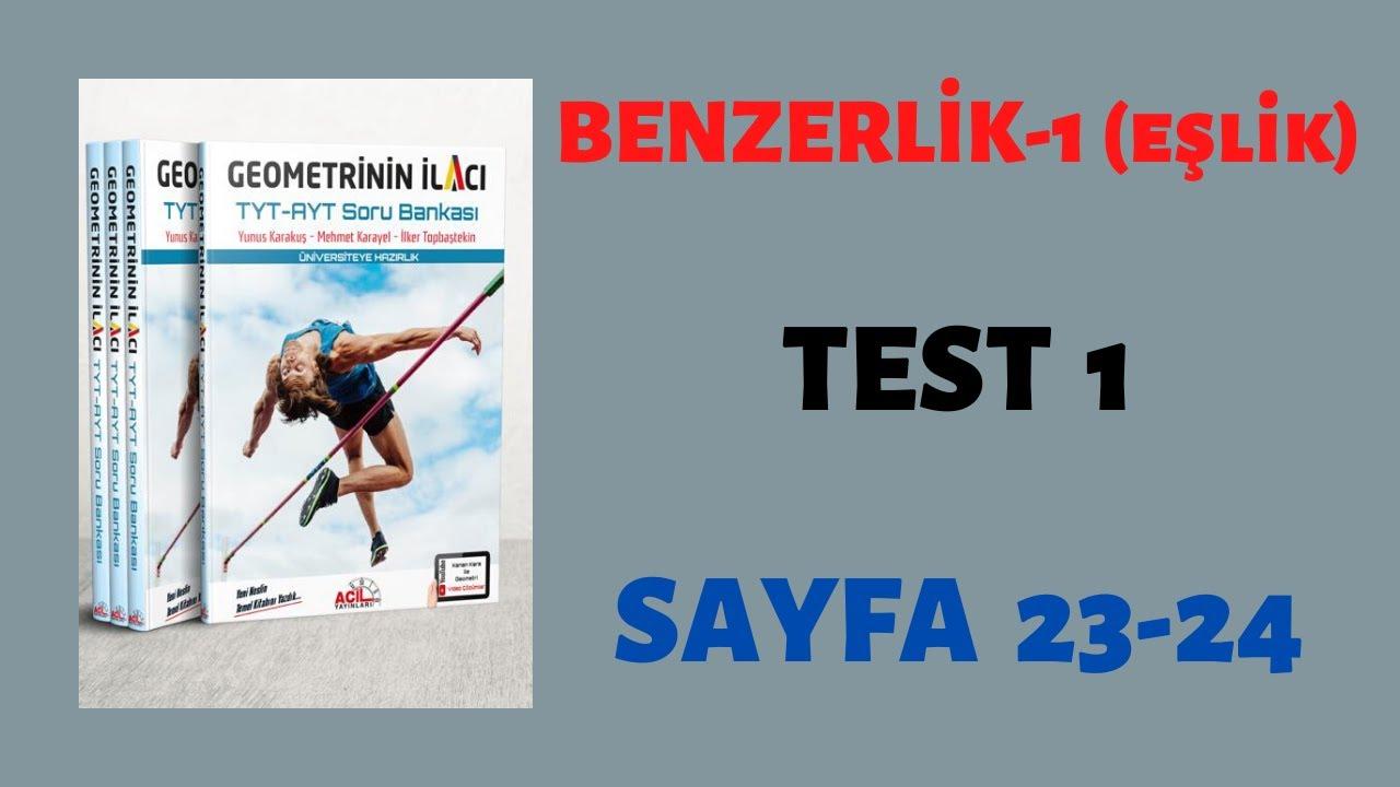 Benzerlik 1 (Eşlik)-Test 1 (GEOMETRİNİN İLACI)
