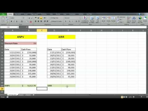 calculating NPV IRR for uneven cash flows - financial analysis