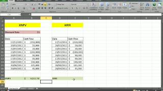 calculating npv irr for uneven cash flows financial analysis