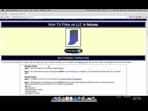 How to Form an LLC in Indiana