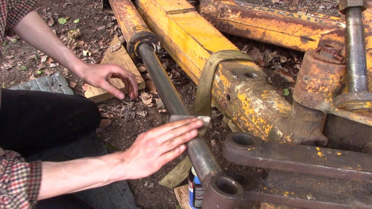 Ford A Hoe Part 7 Repair Damaged Hydraulic Cylinder Rod
