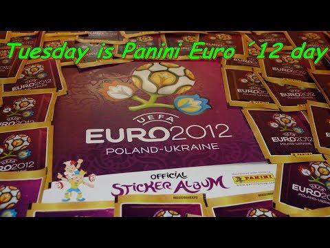 PANINI STICKER ALBUM UEFA EURO 2012 new Paninialbum unboxing sticker