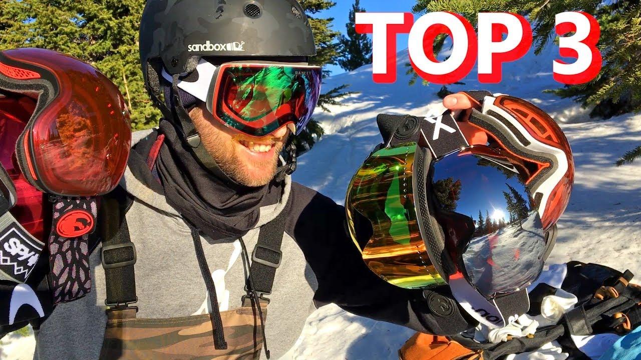 f69141c0cfce My TOP 3 Snowboard Goggle Picks - YouTube