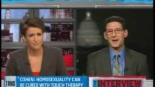 Rachel Maddow takes down gay-to-straight conversion seminarist Richard Cohen (pt 2/2)