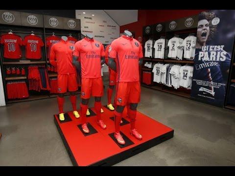 Ligue 1 Maillot de Football Paris Saint-Germain PSG Third 2014/2015 Rouge - YouTube