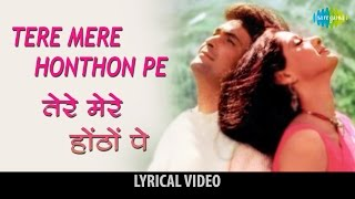 Download lagu Tere mere hothon pe with lyrics त र म र ह ठ प ग न क ब ल Chandni SrideviRishi Kapoor MP3