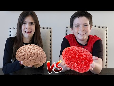 Thumbnail: GUMMY FOOD vs REAL FOOD!!